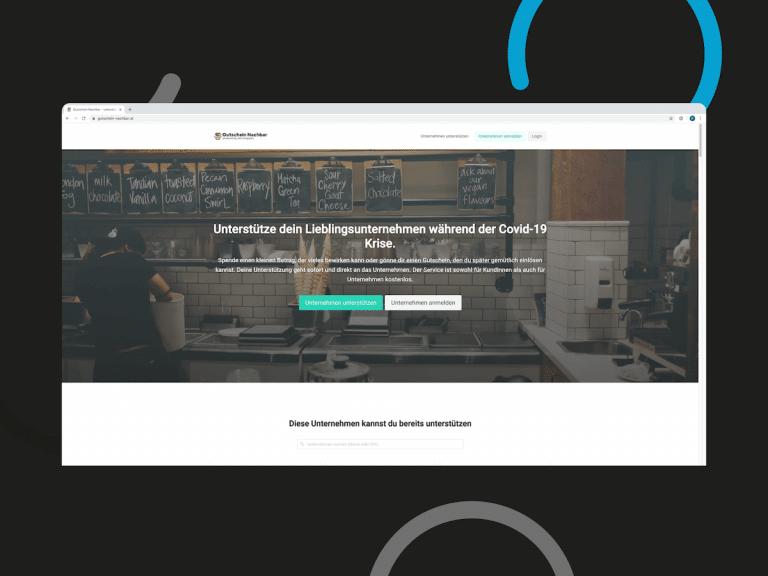 Gutschein Nachbar Onlineshop für Gutscheine als Covid19 Hilfe