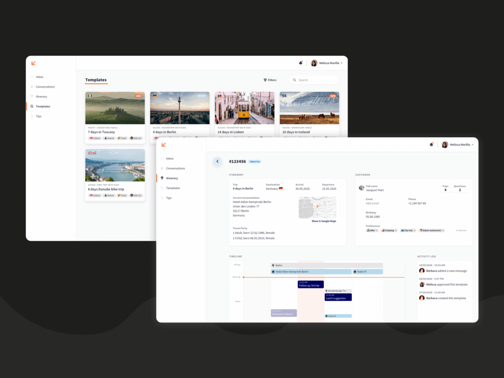 Travel with Zoey UI/UX Design