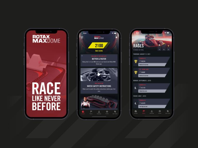 Rotax MAX Dome App für iOS und Android